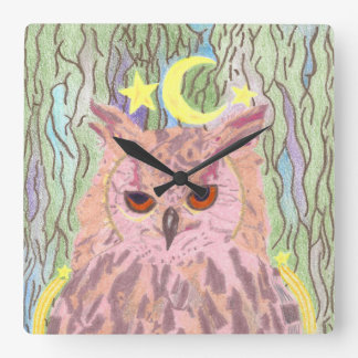 Queen of the Night Girly Owl Clock