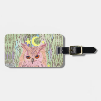 Queen of the Night Girly Owl Luggage Tag