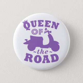 Queen of the Road - Purple 2 Inch Round Button