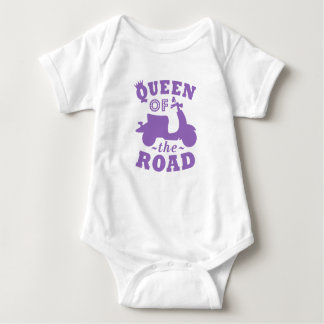Queen of the Road - Purple Baby Bodysuit