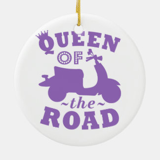 Queen of the Road - Purple Ceramic Ornament