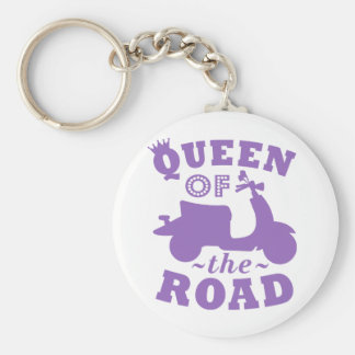 Queen of the Road - Purple Keychain