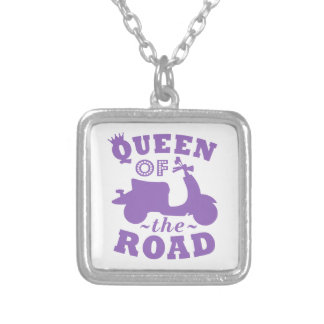 Queen of the Road - Purple Silver Plated Necklace