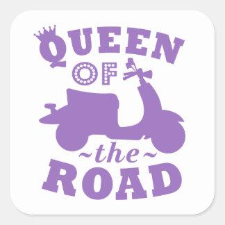 Queen of the Road - Purple Square Sticker