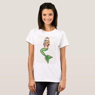 Queen of the Sea Mermaid white shirt Ladies' Cut