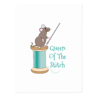 Queen of the Stitch Postcard