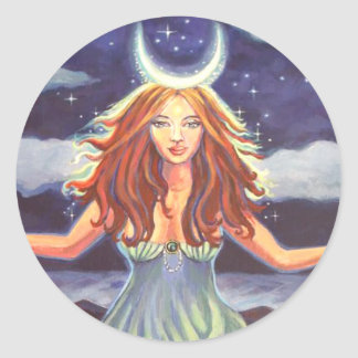 Queen Of The Tides - Goddess Art Stickers