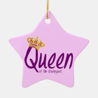 Queen of the Trailerpark Ceramic Ornament