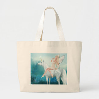 Queen of Unicorns Large Tote Bag