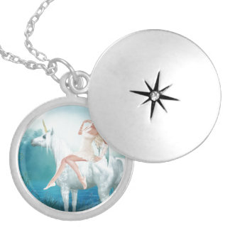 Queen of Unicorns Silver Plated Necklace