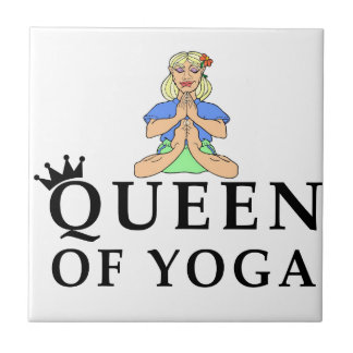 queen of yoga ceramic tiles