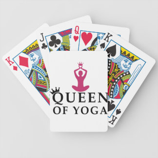 queen of yoga crown bicycle playing cards