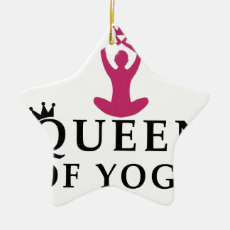 queen of yoga crown ceramic star ornament