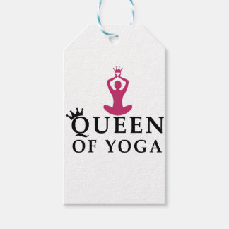 queen of yoga crown pack of gift tags