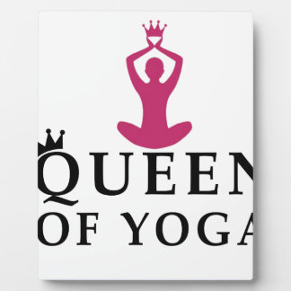 queen of yoga crown plaque