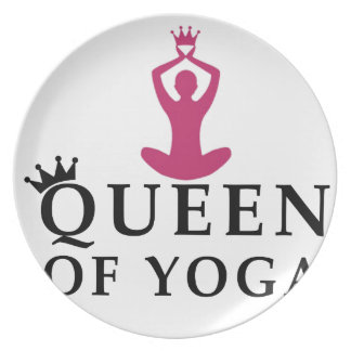 queen of yoga crown plate