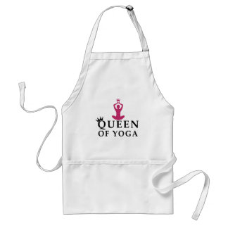 queen of yoga crown standard apron