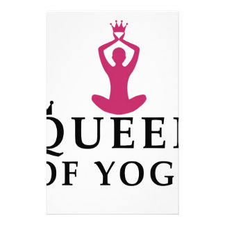 queen of yoga crown stationery
