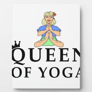 queen of yoga plaque