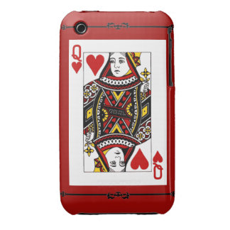 Queen Off Hearts Phonecase iPhone 3 Case-Mate Cases