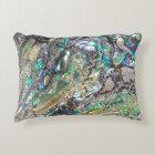 Queen paua shell accent pillow