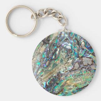 Queen paua shell keychain