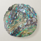 Queen paua shell round pillow