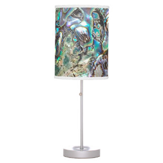 Queen paua shell table lamp