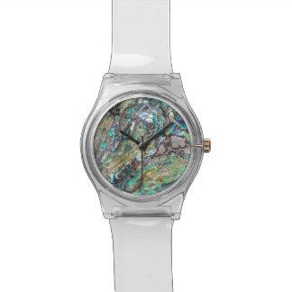 Queen paua shell watch