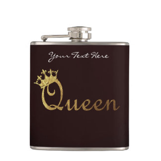 Queen Personalized Flask