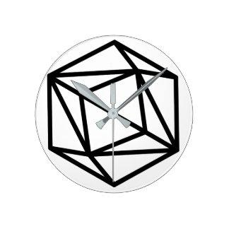 Queen (positive) / Round (Medium) Wall Clock