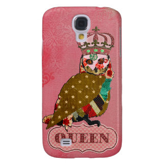 Queen Rose Owl Pink  Samsung Galaxy S4 Cover