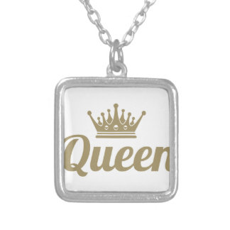 Queen Silver Plated Necklace
