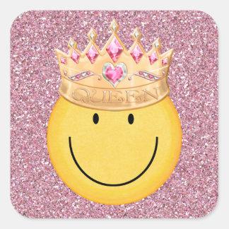 Queen Smiley Face Sticker - SRF