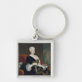 Queen Sophia Dorothea of Hanover Silver-Colored Square Keychain