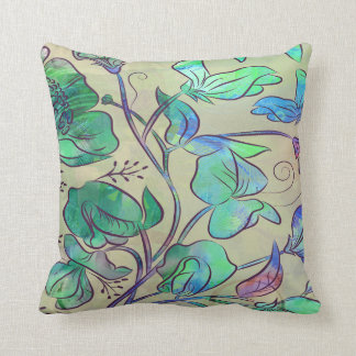 Queen Sweet Pea Throw Pillow