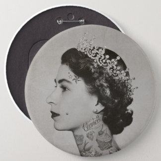 queen tatoo 6 inch round button