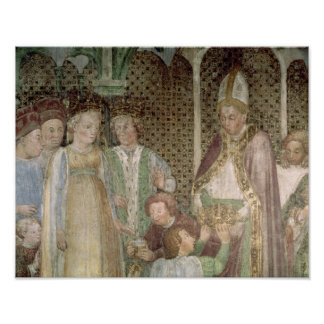 Queen Theodolinda and Pope Gregory the Great Poster