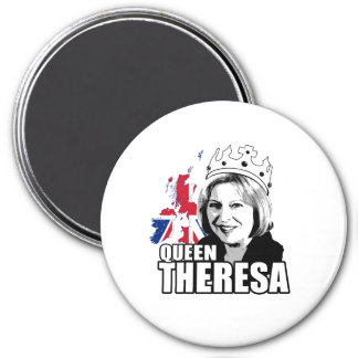 Queen Theresa May - -  3 Inch Round Magnet