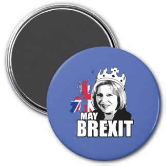 Queen Theresa May Brexit - -  3 Inch Round Magnet