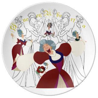 """Queen Uberta Porcelain Sketch Plate (10.75"""")"""