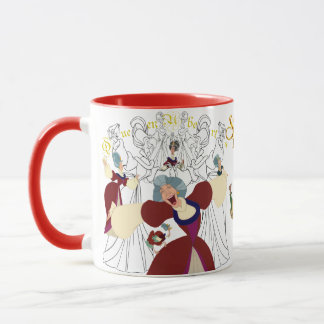 Queen Uberta Sketch Mug with Colored Rim&Handle