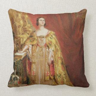 Queen Victoria (1819-1901) Taking the Coronation O Pillow