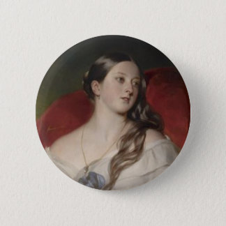 Queen Victoria 2 Inch Round Button