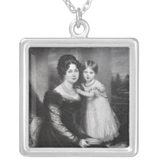 Queen Victoria as an infant with her mother Silver Plated Necklace