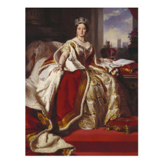 Queen Victoria at her Coronation Postcard