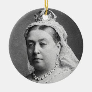 Queen Victoria by Alexander Bassano Round Ceramic Ornament
