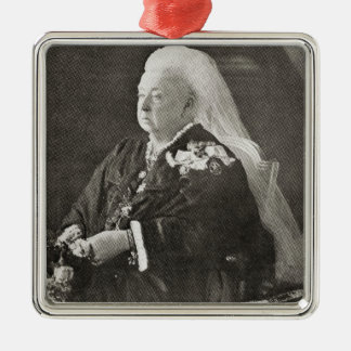 Queen Victoria  c.1899 Metal Ornament