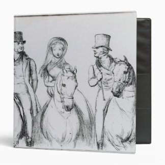 Queen Victoria, Lord Melbourne and Lord Russell 3 Ring Binder