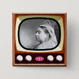 Queen Victoria on Retro TV 2 Inch Square Button